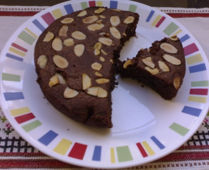 jugalbandee's almond chocolate brownie