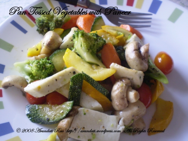 pan tossed vegetables