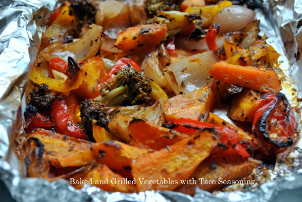 Baked and Grilled Vegetables with Taco Seasoning Recipe (Step by Step Pictures)