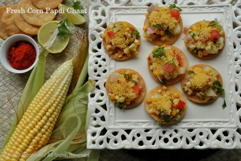Fresh Corn Papdi Chaat
