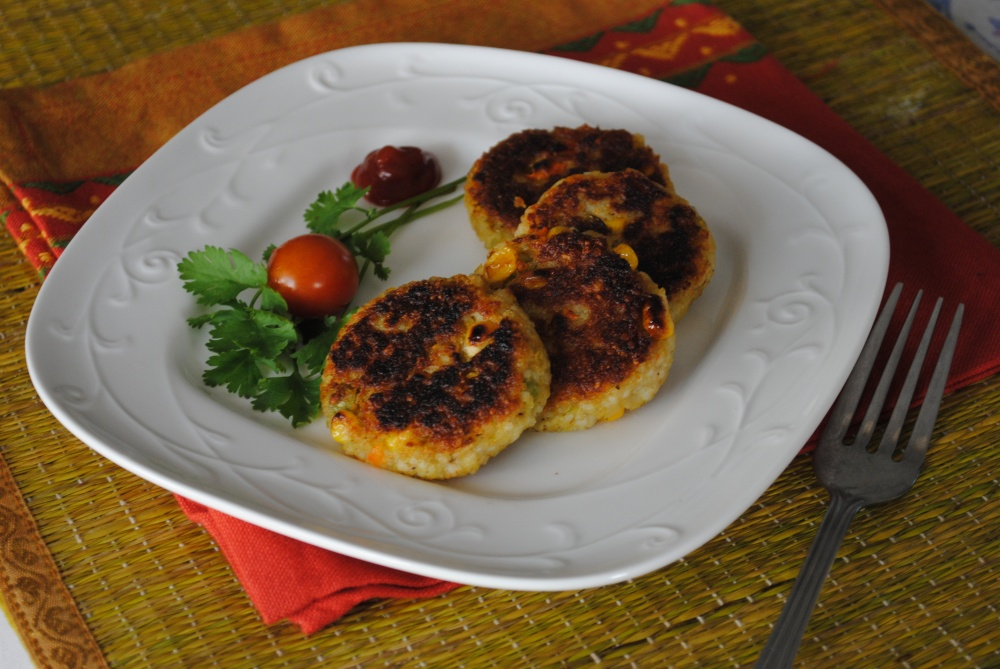 foxtail millet and vegetable patties